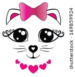 cute cat | Shutterstock .eps vector #169859924