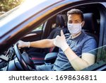 Man With Protective Mask And...
