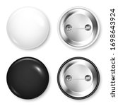 realistic blank badges... | Shutterstock .eps vector #1698643924