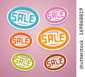 oval paper vector sale titles... | Shutterstock .eps vector #169868819