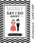 marry   say i do poster... | Shutterstock .eps vector #169871489
