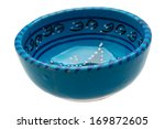 Blue Empty Oriental Bowl