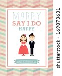 marry   say i do poster... | Shutterstock .eps vector #169873631