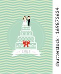 wedding poster template vector... | Shutterstock .eps vector #169873634