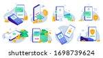 mobile payments. online sending ... | Shutterstock .eps vector #1698739624