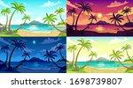 daytime beach landscape. sunny... | Shutterstock .eps vector #1698739807
