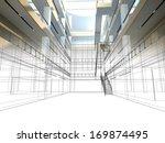 sketch design of interior hall | Shutterstock . vector #169874495