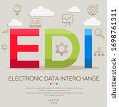 edi mean  electronic data...   Shutterstock .eps vector #1698761311