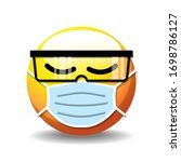realistic round face with... | Shutterstock .eps vector #1698786127