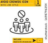 avoid crowds icon design...