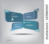 3d effect infographic elements... | Shutterstock .eps vector #169880465
