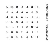 arrows collection. set of... | Shutterstock .eps vector #1698809821