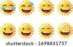 abstract corona emoji set.... | Shutterstock .eps vector #1698831757