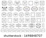 calligraphic design elements .... | Shutterstock .eps vector #1698848707