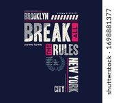 brooklyn new york with break... | Shutterstock .eps vector #1698881377