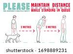 quarantine poster. virus... | Shutterstock .eps vector #1698889231
