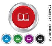 book sign icon. open book...   Shutterstock .eps vector #169889621