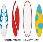 surfboard vector   Shutterstock .eps vector #169894229