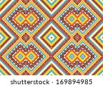 seamless colorful aztec pattern | Shutterstock .eps vector #169894985