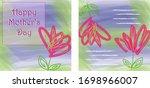 modern and original happy... | Shutterstock .eps vector #1698966007
