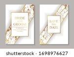 set of modern geometric luxury... | Shutterstock .eps vector #1698976627