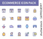 ecommerce icon pack isolated on ...