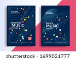 electronic music posters design....   Shutterstock .eps vector #1699021777