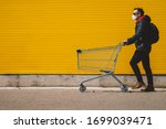 Man With With A Shopping Cart...