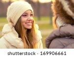portrait of the beautiful girl... | Shutterstock . vector #169906661