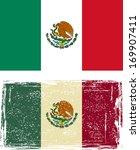 mexican grunge flag. raster... | Shutterstock . vector #169907411