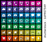collection of 49 flat icons   2