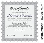 grey sample diploma. with...   Shutterstock .eps vector #1699076074
