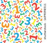 multicolored 123 number... | Shutterstock .eps vector #1699098511