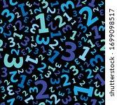 blue 123 number background... | Shutterstock .eps vector #1699098517