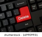 keyboard with a word delete | Shutterstock . vector #169909931