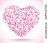 spot of many hearts  vector...   Shutterstock .eps vector #169910705