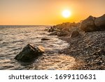 Orange Sunset On The Seashore...