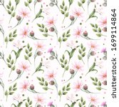 seamless watercolor pattern... | Shutterstock . vector #1699114864