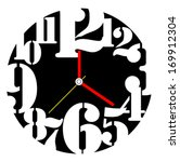 creative clock design. | Shutterstock .eps vector #169912304