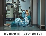 Small photo of Woman surgeon looking sadness fatigue after surgery copyspace stress depression guilt unhappy problem worker medicine healthcare emotions