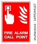 fire alarm call point symbol... | Shutterstock .eps vector #1699244167