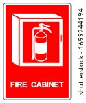 fire cabinet symbol sign ... | Shutterstock .eps vector #1699244194