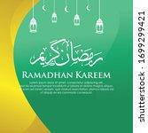 ramadan kareem background ... | Shutterstock .eps vector #1699299421