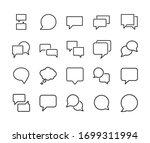 stroke line icons set of speech ... | Shutterstock .eps vector #1699311994