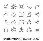 share line icons set. stroke...