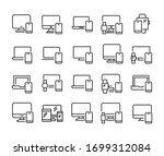 stroke line icons set of... | Shutterstock .eps vector #1699312084