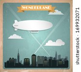 Vintage zeppelin. Vector illustration - stock vector