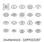 icon set of eye. editable... | Shutterstock .eps vector #1699322287