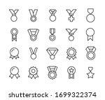 icon set of medal. editable... | Shutterstock .eps vector #1699322374