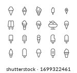 simple set of ice cream icons... | Shutterstock .eps vector #1699322461